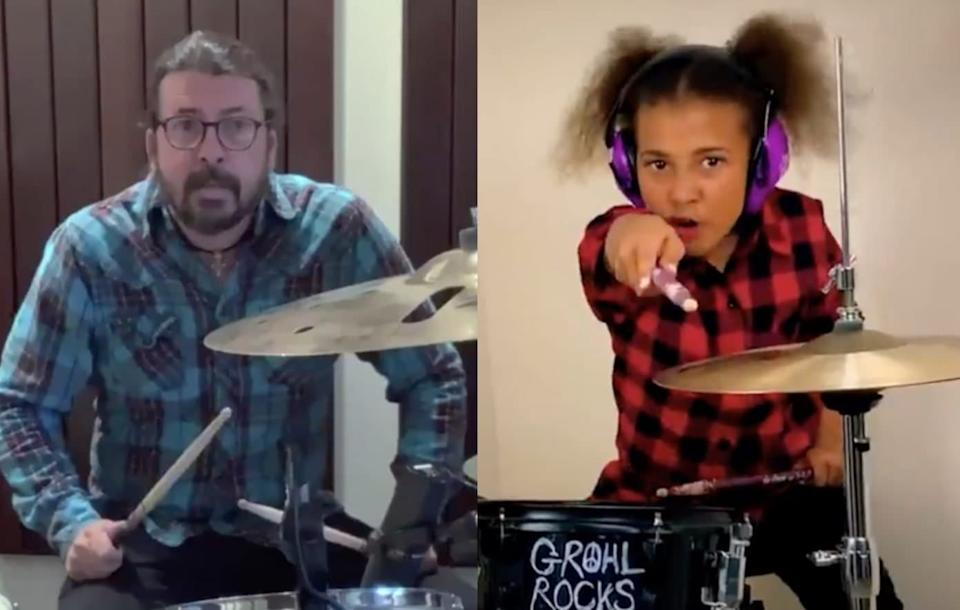 Dave Grohl des Foo Fighters et Nandi Bushell - Capture d'écran