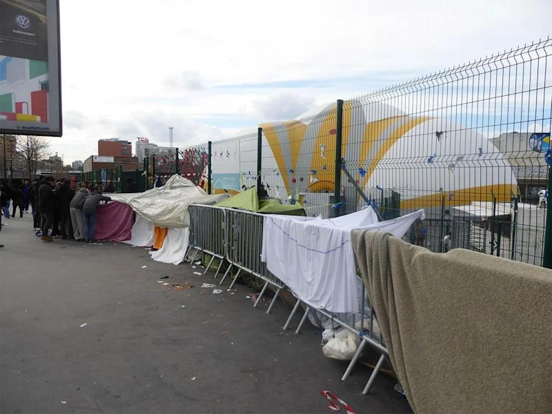 A camp outside 'the Bubble', where refugees wait to be processed