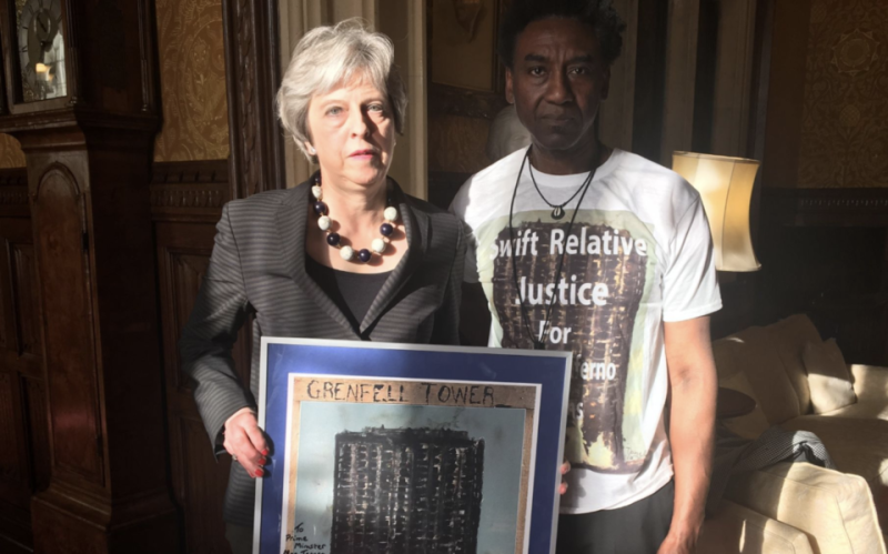 Theresa May and Damel Carayol