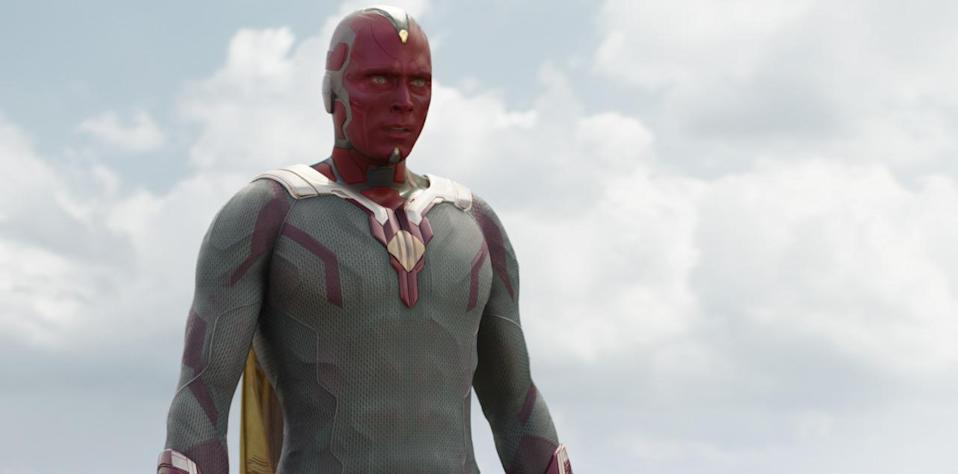 <p>The sentient android introduced in <i>Age of Ultron</i> retains the personality of Stark's JARVIS computer system. He is cooly logical and agrees with Iron Man's argument, even if that puts him at odds with fellow newbie Scarlet Witch. <i>(Photo: Disney)</i></p>