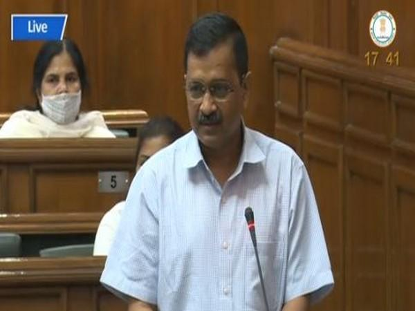 Delhi Chief Minister Arvind Kejriwal speaking in Delhi Assembly on Monday. (Photo/ANI)
