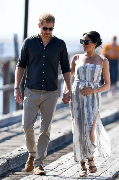 PHOTO: Prince Harry, The Duke of Sussex and Meghan Markle, The Duchess of Sussex visit Fraser Island, Australia, Oct. 22, 2018. (Andrew Parsons/i-Images/Polaris)