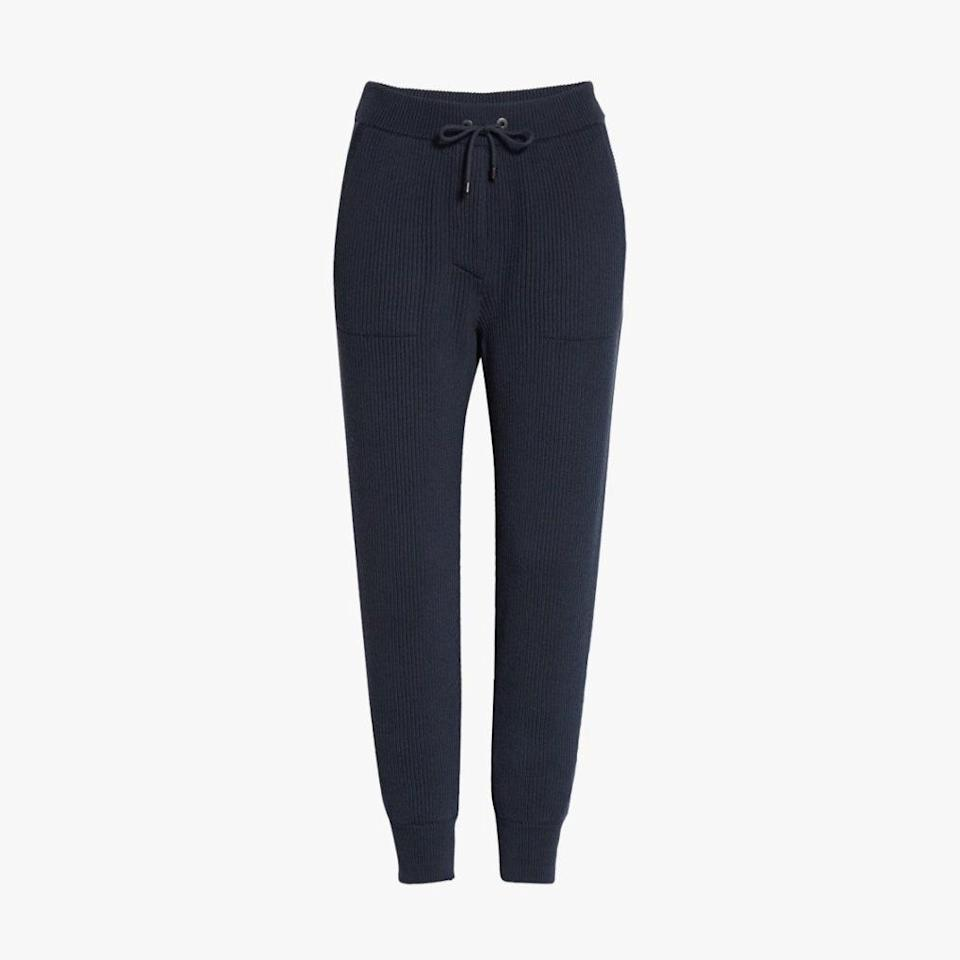 """$1995, NORDSTROM. <a href=""""https://www.nordstrom.com/s/brunello-cucinelli-monili-trim-rib-cotton-ankle-sweater-joggers/5778602?origin=keywordsearch-personalizedsort&breadcrumb=Home%2FAll%20Results&color=427"""" rel=""""nofollow noopener"""" target=""""_blank"""" data-ylk=""""slk:Get it now!"""" class=""""link rapid-noclick-resp"""">Get it now!</a>"""