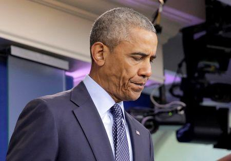 U.S. President Barack Obama speaks about the worst mass shooting in U.S. history that took place in Orlando, Florida, at the White House in Washington.