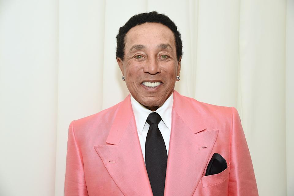 WEST HOLLYWOOD, CALIFORNIA - FEBRUARY 09: Smokey Robinson attends the 28th Annual Elton John AIDS Foundation Academy Awards Viewing Party sponsored by IMDb, Neuro Drinks and Walmart on February 09, 2020 in West Hollywood, California. (Photo by Michael Kovac/Getty Images for EJAF)