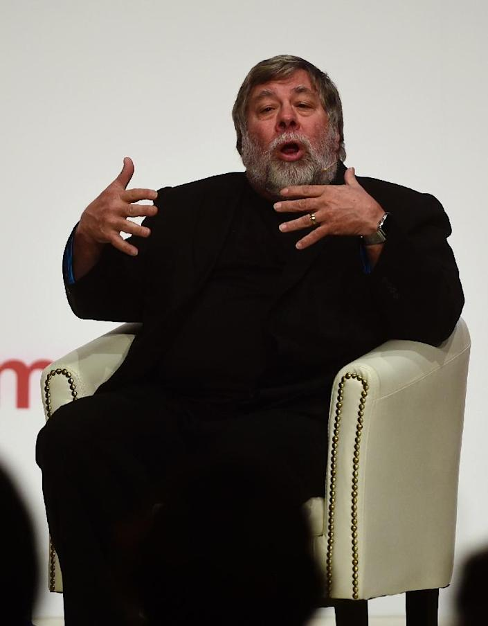 Apple co-founder Steve Wozniak is one of Silicon Valley's big names who has signed an open letter denouncing Donald Trump's campaign (AFP Photo/PIERRE-PHILIPPE MARCOU)