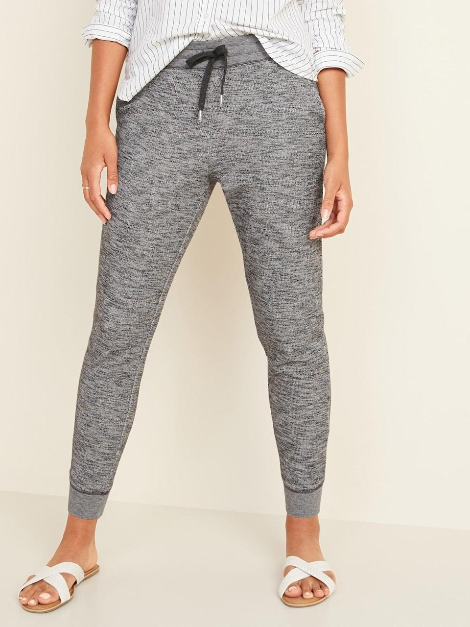 <p>You'll never tire of rocking these <span>Old Navy Mid-Rise Tapered-Leg Jogger Pants</span> ($30).</p>