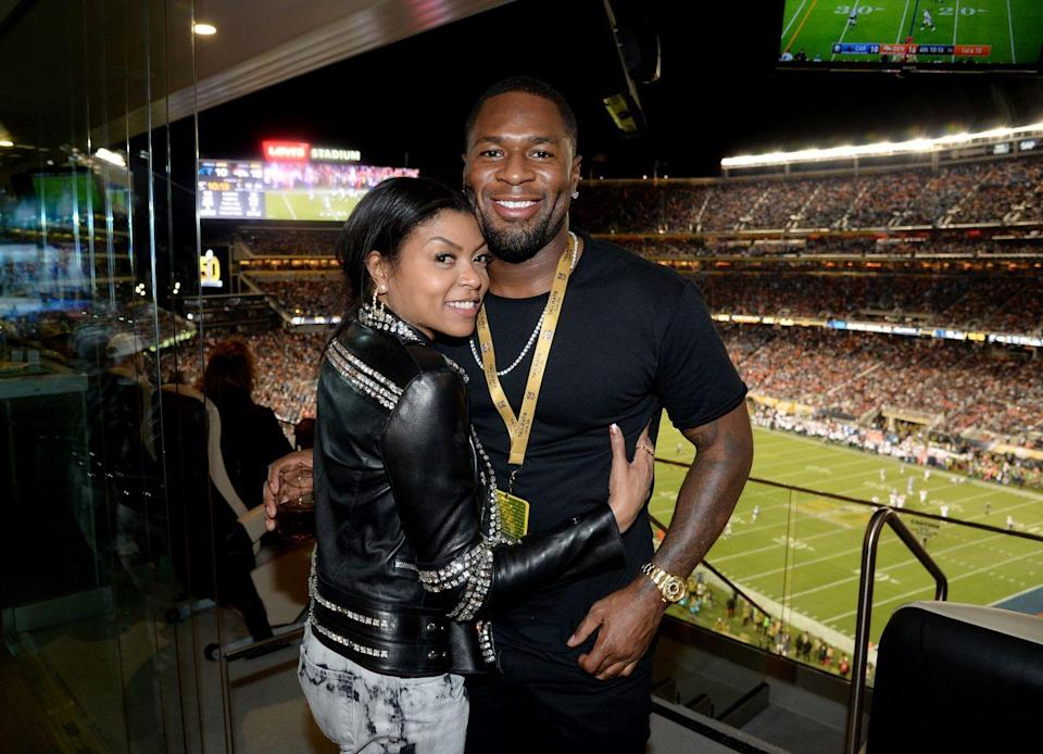 "<p>Henson only <a href=""https://www.usmagazine.com/celebrity-news/news/taraji-p-henson-confirms-two-year-relationship-%C6%92with-kelvin-hayden/"" rel=""nofollow noopener"" target=""_blank"" data-ylk=""slk:confirmed her two-year-long relationship"" class=""link rapid-noclick-resp"">confirmed her two-year-long relationship</a> with Kelvin Hayden in December 2017. ""We've been together for two years,"" she said on <em>Essence</em>'s podcast ""Yes Girl."" ""And no one would really know that because I don't blast my info like that but I'm very happy."" In May 2018, Henson announced her engagement on <a href=""https://www.instagram.com/p/BiwgTbxAKRO/?utm_source=ig_embed"" rel=""nofollow noopener"" target=""_blank"" data-ylk=""slk:Instagram"" class=""link rapid-noclick-resp"">Instagram</a>.</p>"