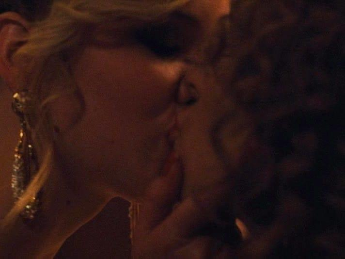 American Hustle kiss