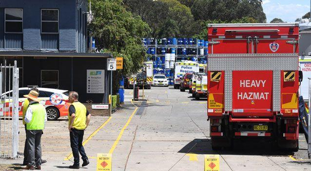 Two men believed to be in their 30s or 40s were trapped in the confined space. Photo: AAP