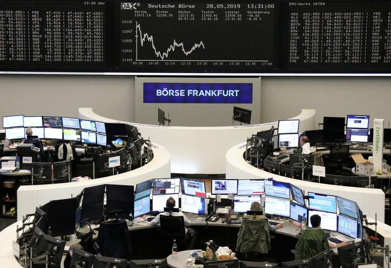 The German share price index DAX graph is pictured at the stock exchange in Frankfurt, Germany, May 28, 2019. REUTERS/Staff