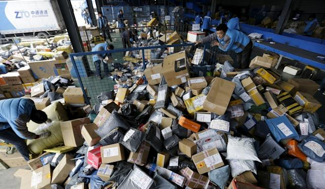 Chinese courier services firms have benefited vastly from growing e-commerce in China. Photo: Reuters