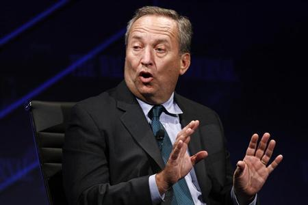 Larry Summers, U.S. National Economic Council Director, gestures as he speaks at the 2010 meeting of the Wall Street Journal CEO Council in Washington
