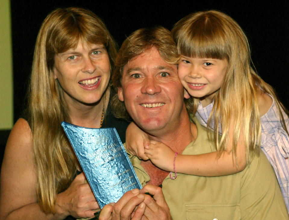 Bindi Irwin honoured her late father at the wedding. (Photo by Newspix/Getty Images)