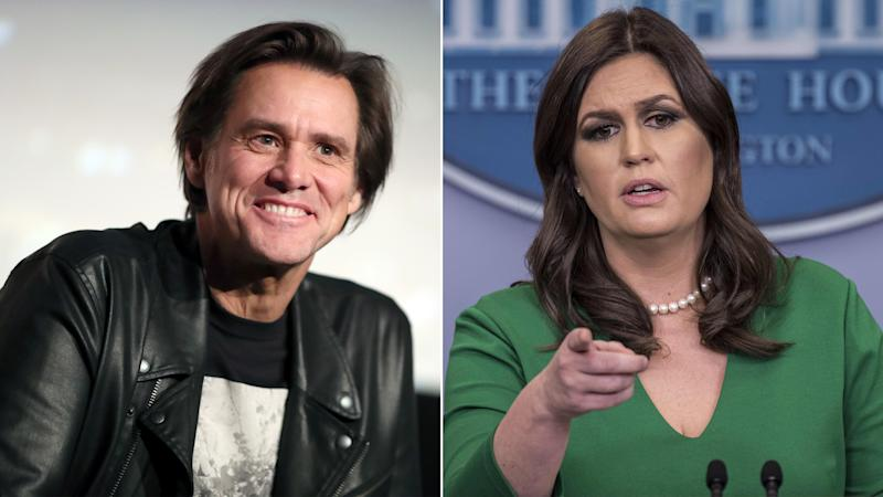 Jim Carrey Under Fire for a Painting That Looks Like Sarah Huckabee Sanders