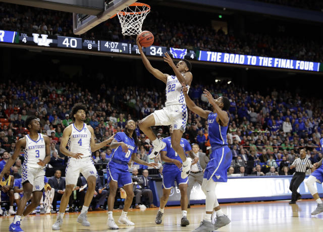 Kentucky point guard Shai Gilgeous-Alexander elevated his draft status with a strong tournament. (AP)