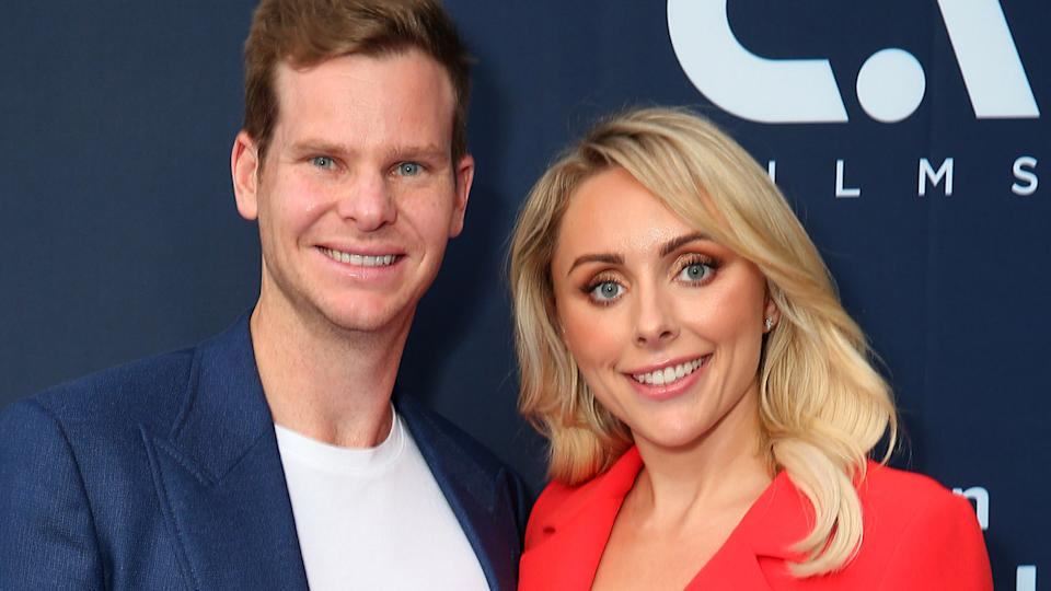 Steve Smith and Dani Willis, pictured here at the Amazon Original premiere of 'The Test' in 2020.