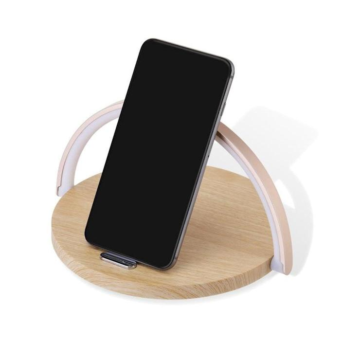 <p>Bring this new <span>Kutstore Wireless Fast Charger Table Lamp</span> ($38) into your bedroom decor.</p>