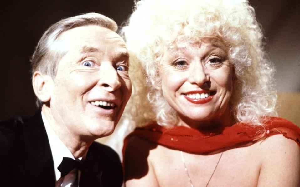 Kenneth Williams and Barbara Windsor in Carry on Christmas - Fremantle Media/Shutterstock