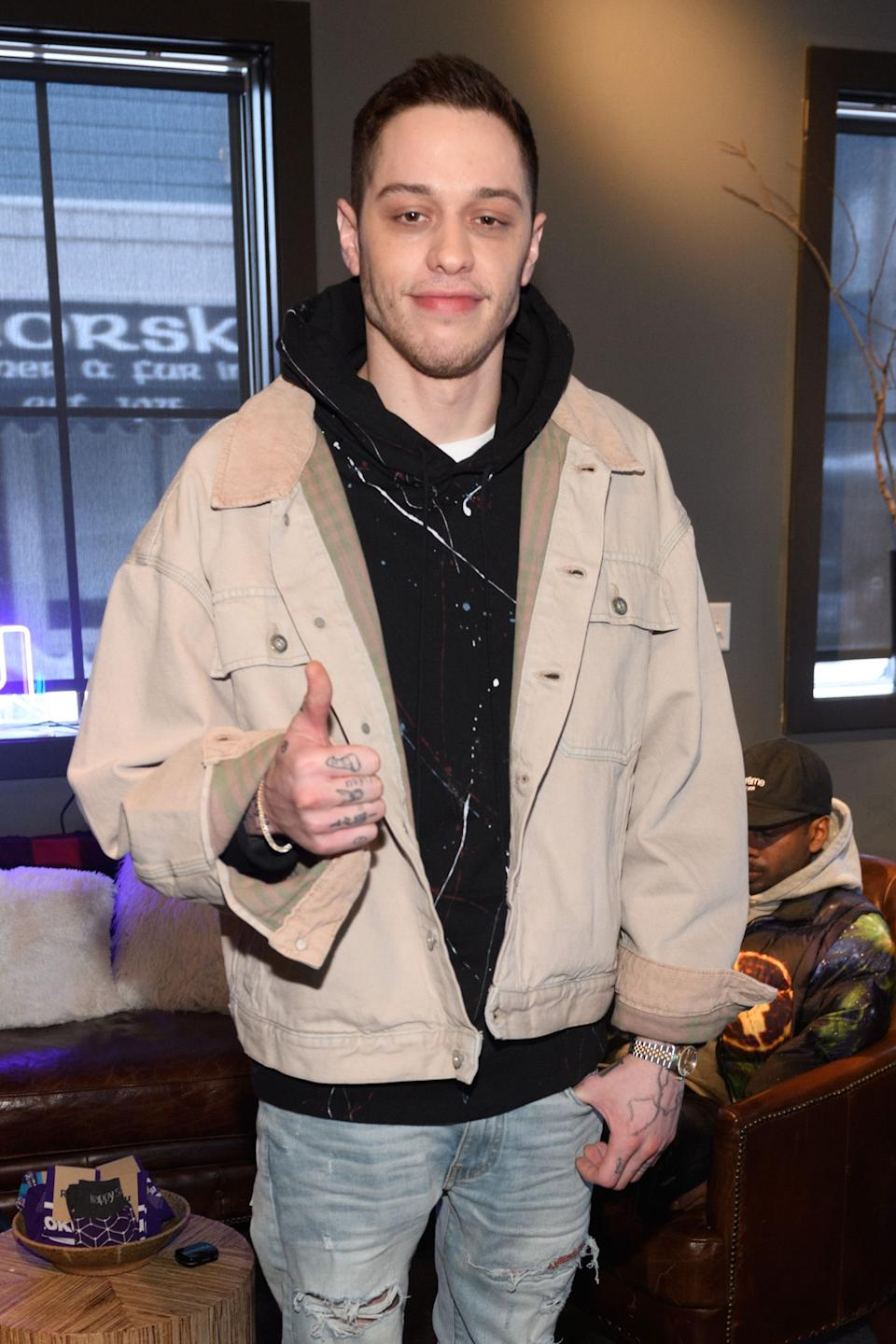 Pete Davidson poses for a photo