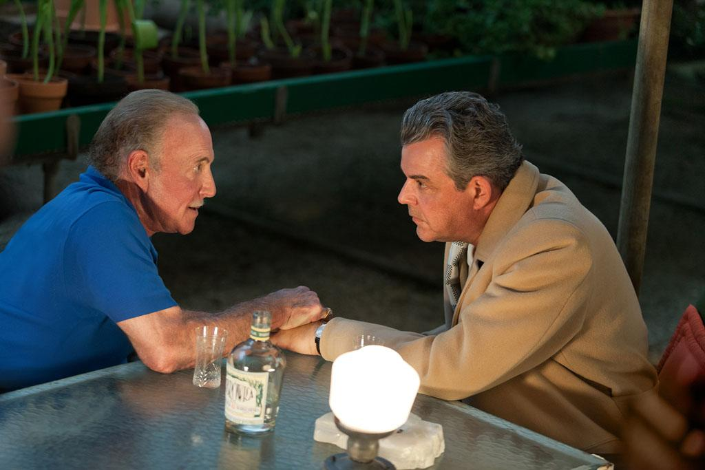 "James Caan as Sy Berman and Danny Huston as Ben Diamond in ""Magic City"" Season 2."