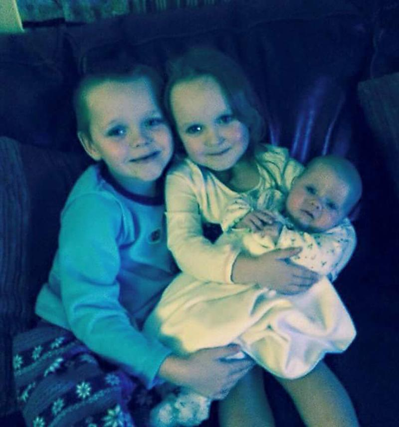 Brandon, aged eight, Lacie, aged seven and Lia Pearson, aged three, died in the blaze which left their mother with horrific burns. (Picture: PA)