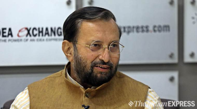 Prakash Javadekar Idea Exchange, Union Minister Prakash Javadekar BJP, Prakash Javadekar Kashmir article 370, Idea Exchange Indian Express