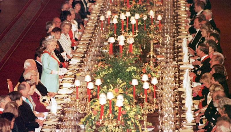 The hall is usually used by the Queen, who hosts parties there for dignitaries. Photo: Getty Images