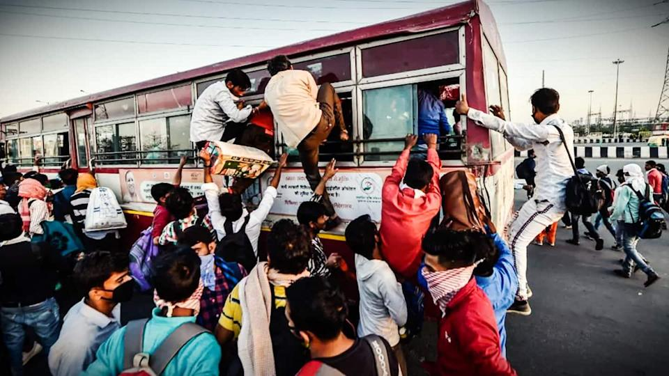 Overcrowded bus ferrying migrants from Delhi overturns, three die