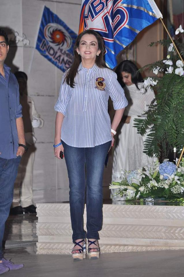 Nita Ambani threw a party for the Mumbai Indians after they won the 2013 Champions League T20.