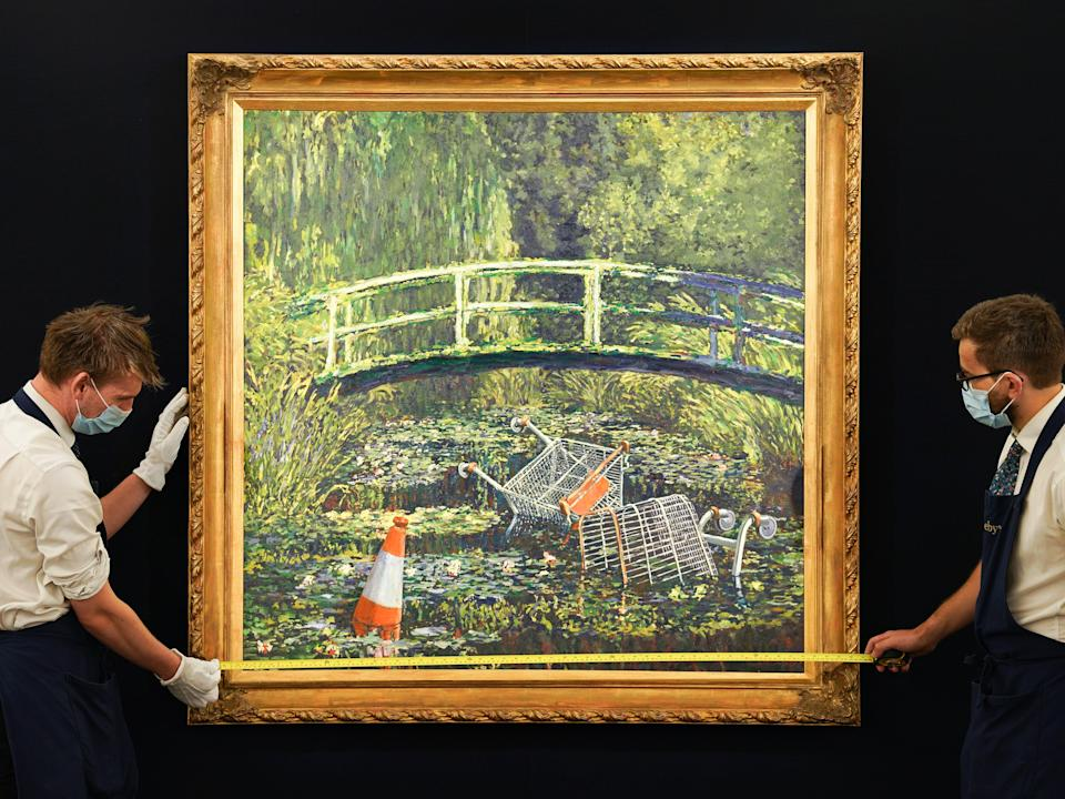 'Show Me the Monet' by Banksy (Getty Images for Sotheby's)