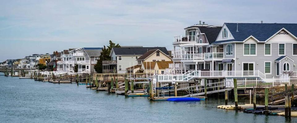 Waterfront homes in Avalon, New Jersey.
