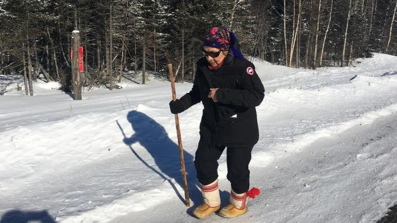 Innu elder's walk into the country cut short after spill on snowmobile