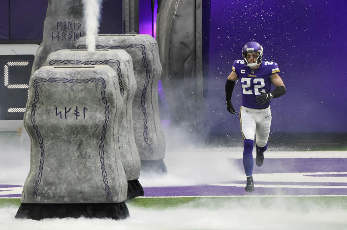 Harrison Smith is entering his 10th year with a contract extension awaiting that makes him the second highest-paid safety in the league. (Stephen Maturen/Getty Images)