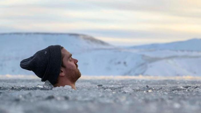 For two minutes participants endure the icy water, concentrating on inhaling and exhaling, and laud its wellness benefits (AFP Photo/Halldor KOLBEINS)