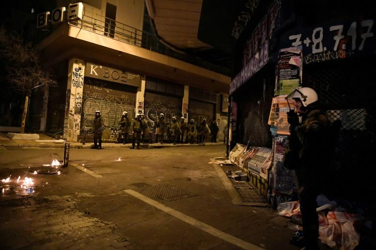 Most of the incidents occurred in the bohemian Athens district of Exarchia (AFP Photo/LOUISA GOULIAMAKI )