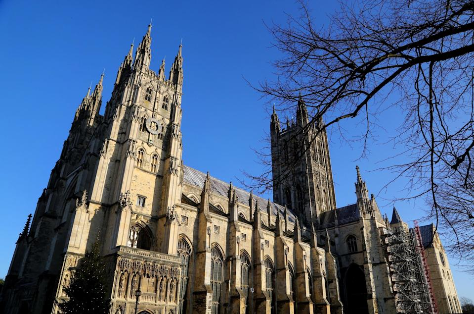 The service was held at Canterbury Cathedral (Gareth Fuller/PA) (PA Archive)