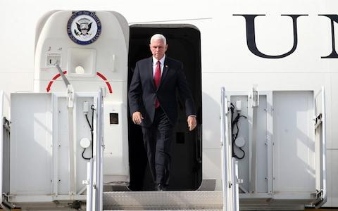 Vice President Mike Pence arrived in Ankara, facing an impossible task - Credit: Evrim Aydin/Anadolu Agency via Getty Images