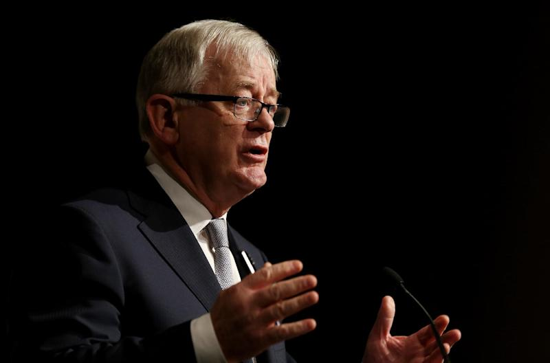 Australian Minister for Trade and Investment Andrew Robb speaks at the G20 Investment Forum Opening Plenary in Sydney on July 19, 2014 (AFP Photo/Nikki Short)