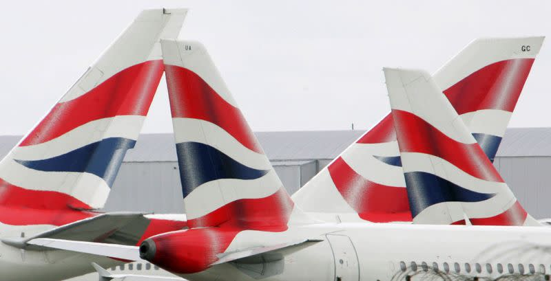 FILE PHOTO: British Airways aircraft stationary on the tarmac of London's Heathrow Airport in west London