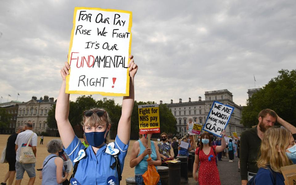 NHS national pay protest - Dominic Lipinski/PA Wire