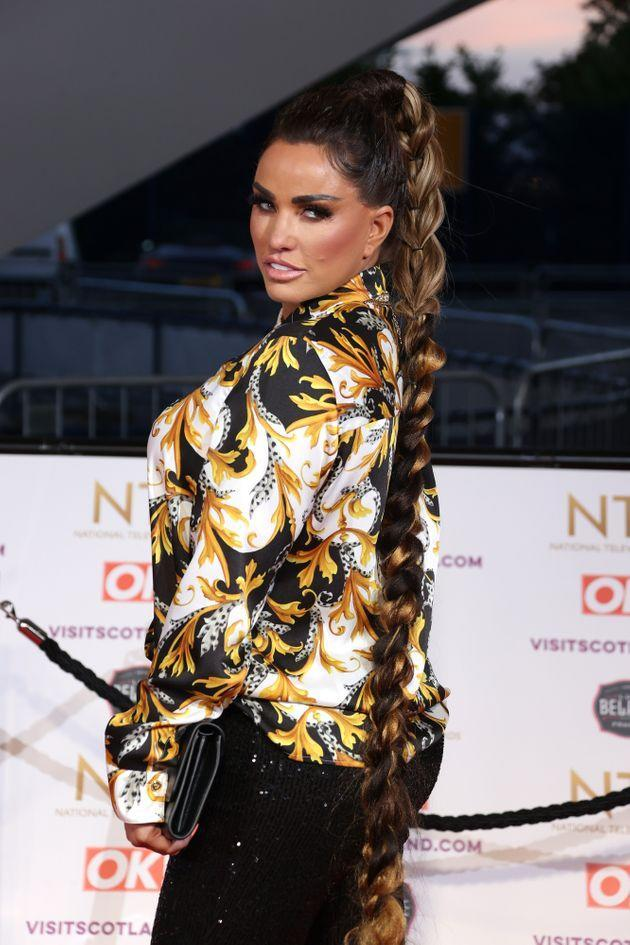 Katie Price at the National Television Awards earlier this month (Photo: Mike Marsland via Getty Images)