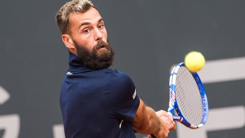 Benoit Paire, pictured here in action against Casper Ruud at the Hamburg Open.