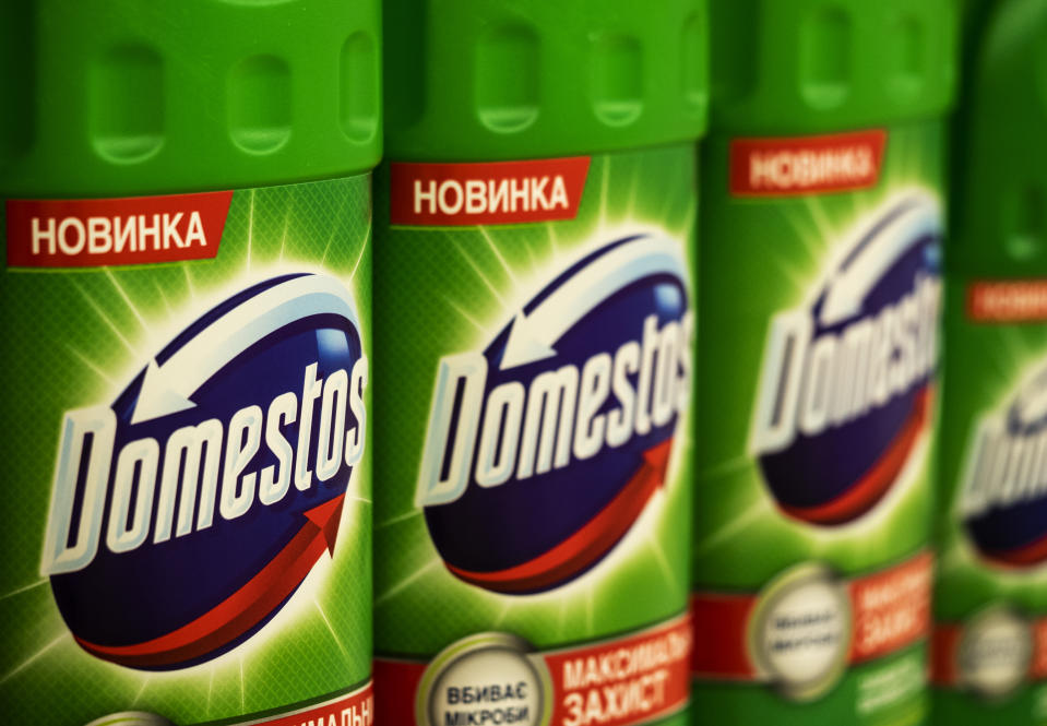 Demand for cleaning products like Domestos helped offset weakness elsewhere in Unilever's business. Photo: Igor Golovniov/SOPA/LightRocket via Getty