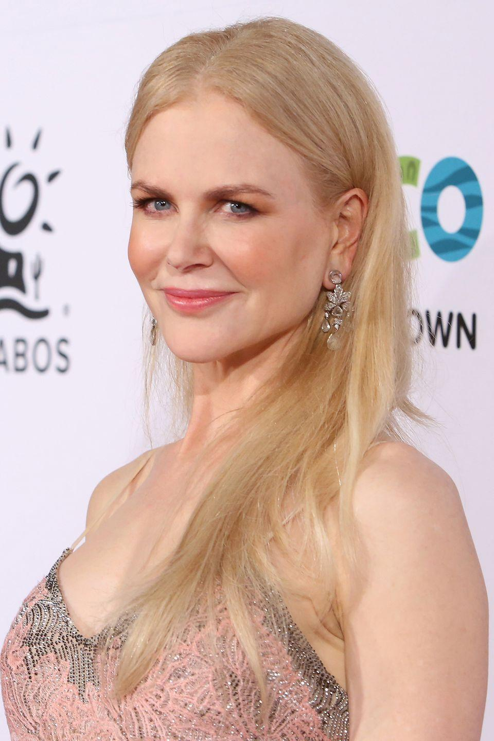 <p>There's little variation in this soft, light shade of blonde, which is what makes it so special. It has an even more dramatic effect if it closely resembles your skin tone, like you see here with <strong>Nicole Kidman</strong>. </p>