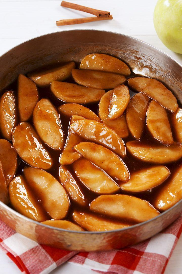"""<p>These juicy, sweet apples are like <a href=""""https://www.delish.com/uk/cooking/recipes/a32667262/best-homemade-apple-pie-recipe-from-scratch/"""" rel=""""nofollow noopener"""" target=""""_blank"""" data-ylk=""""slk:apple pie"""" class=""""link rapid-noclick-resp"""">apple pie</a> filling... but better. We love them straight out of the pan, or served with a big scoop of vanilla ice cream for dessert. They're even great for breakfast—try a spoonful on top of your morning oatmeal or french toast. </p><p>Get the <a href=""""https://www.delish.com/uk/cooking/recipes/a33122546/easy-fried-apples-recipe/"""" rel=""""nofollow noopener"""" target=""""_blank"""" data-ylk=""""slk:Best-Ever Fried Apples"""" class=""""link rapid-noclick-resp"""">Best-Ever Fried Apples</a> recipe.</p>"""