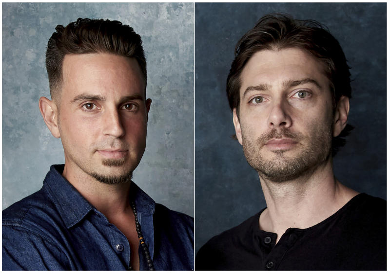 "In this combination photo, Wade Robson, left, and James Safechuck pose for a portrait to promote the film ""Leaving Neverland"" during the Sundance Film Festival in Park City, Utah on  Jan. 24, 2019. A California appeals court is strongly inclined to give new life to lawsuits filed by Robson and James Safechuck who accuse Michael Jackson of molesting them when they were boys. In a tentative ruling Monday, the 2nd District Court of Appeal said lawsuits from the men should be reconsidered by the trial court that dismissed them in 2017. The decision is based on a new California law that gives sex abuse victims far longer to sue. (Photo by Taylor Jewell/Invision/AP)"
