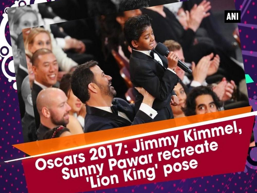 After winning the hearts of critics and audience alike, Lion actor Sunny Pawar has arrived for his big night. The 8-year-old actor is wearing a black tuxedo with casual sneakers at the 89th Academy Awards red carpet. Although smartly dressed, it's his charismatic smile that's stealing the limelight at the red carpet. Academy Awards host Jimmy Kimmel took a moment to visit with Lion's Sunny Pawar to the delight of the audience, re-creating his favourite scene from the animated film.