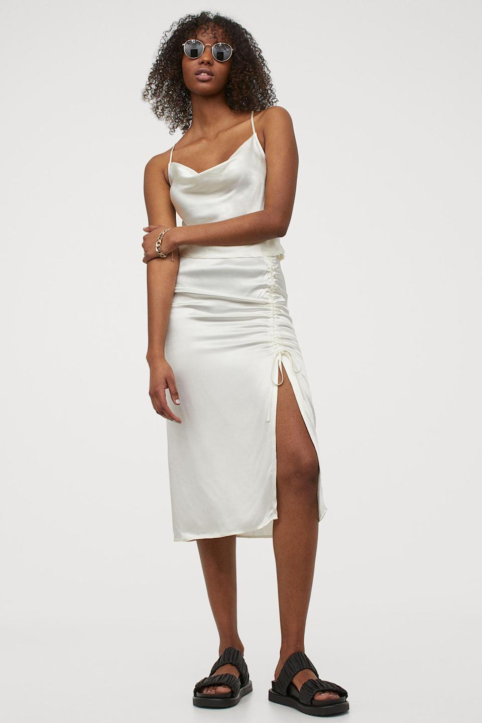 <p>This <span>Drawstring Skirt</span> ($25) is chic, effortless, and seductive, so I'm sold.</p>