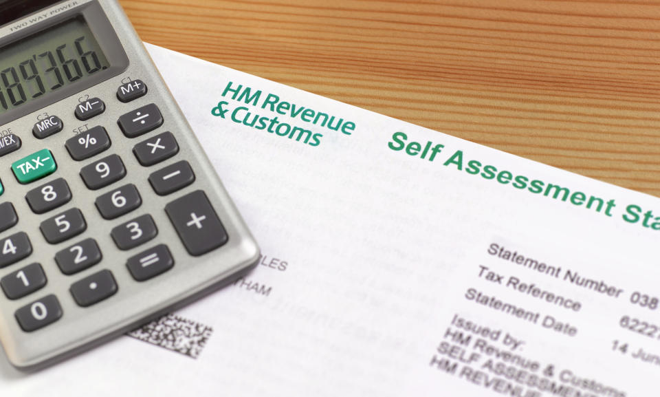 end of year working out inland revenue tax self assessment form with calculator